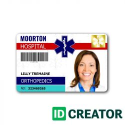 Doctor Id Cards Physician Id Cards Doctor Id Badges Easy Online Id Maker