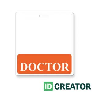 Orange Doctor Label Badge Buddy - 1350-2132