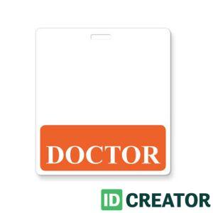 Orange Doctor Label Badge Buddy - 1350-2132